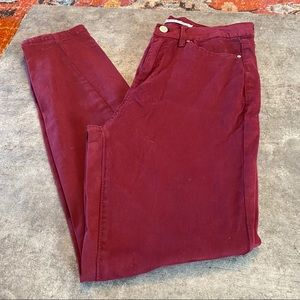 Celebrity Pink burnt red high rise skinny jeans